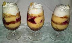Ananásovo- malinové trifle, Poháre, pudingy, krémy ..., recept | Naničmama.sk