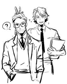 Professor Kenobi and assistant Anakin ;D