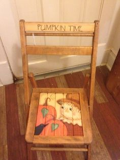 Hand painted scarecrow chair
