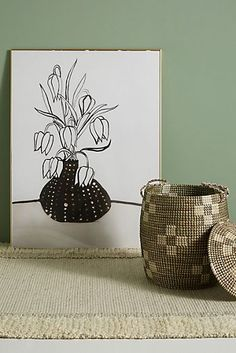 Flowers In A Black Vase Wall Art by Artfully Walls in Black, Decor at Anthropologie Black And White Painting, Black White Art, Monogram Wall Art, Mirror Wall Art, Wall Décor, Mirrors, Black Vase, Unique Wall Art, Black Decor