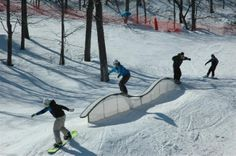Ski, Snowboard, and stay at one of the top ski resorts in PA! Camelback Mountain offers skiing, snowboarding, and snow tubing in the Pocono Mountains of Pennsylvania. Snowboarding, Skiing, Ski Park, Pocono Mountains, Neon Painting, Mountain Resort, Tans, Kiosk, Powder