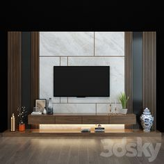 3d models: TV Wall - TV shelf 029 Modern Tv Room, Modern Tv Wall Units, Modern Bedroom Design, Living Room Modern, Tv Console Modern, Living Rooms, Tv Unit Interior Design, Tv Unit Furniture Design, Tv Furniture