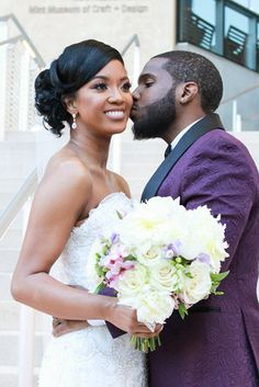 Bridal Bliss: Kwame and Michele's Sweet Charlotte Wedding Photos Are Full Of Love