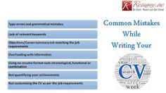 Resume.ae: Common Mistakes while writing CV follow us at http...