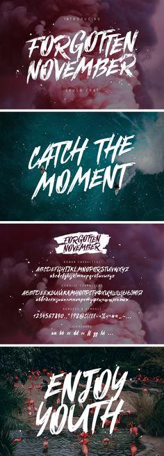 Forgotten November Brush Font - download freebie by Pixelbuddha