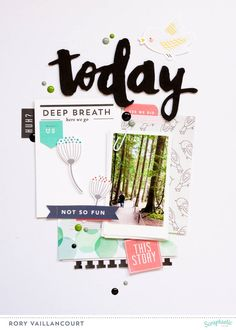 today layout by Rory using the April This Life Noted kit from Scraptastic Club