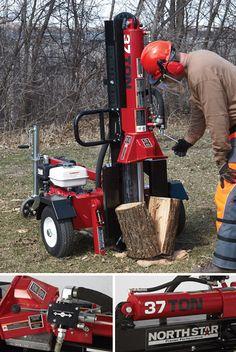 NorthStar Horizontal/Vertical Log Splitter — 37-Ton, 270cc Honda GX270 Engine
