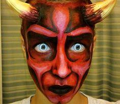devil face art painting - Google Search