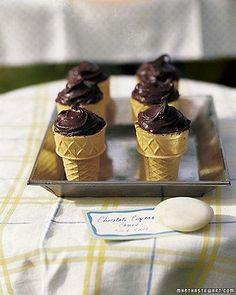 Chocolate Cupcake Cones Recipe