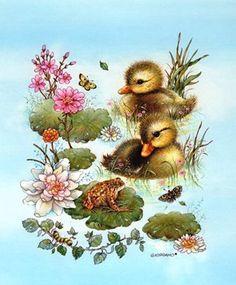 животные на открытках Giordano Studios
