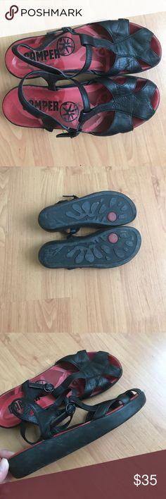 Black Camper Mary Janes size39 Black Camper Mary Janes size 39- fits 8.5 gently worn. Super comfortable. Camper Shoes Sandals