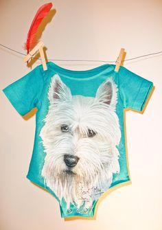 Upcycled tshirt baby onesie!