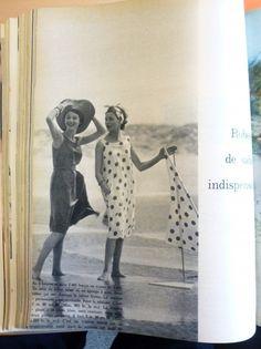 Les robes de #plage : Jean Chevalier, en 1948 pour @Elle France