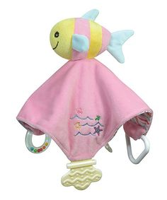 Another great find on #zulily! Pink & Yellow Chewbie Fish Lovey #zulilyfinds
