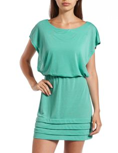 Pleated Hem A-Line Dress