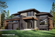 Wonderful Maison Bungalow Moderne that you must know, You're in good company if you're looking for Maison Bungalow Moderne Modern House Plans, Modern House Design, Modern House Colors, Modern Exterior, Exterior Design, Building Design, Building A House, House Entrance, Entrance Ideas