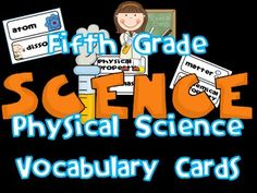 Physical Science-This set of 36 vocabulary cards is a great resource to help your students understand often difficult science concepts! Science Tools, Science Resources, Physical Science, Science Lessons, Science Activities, Science Fun, Science Ideas, Science Projects, Science Classroom