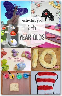 for Year Olds This is great! A list of fantastic fun activities your year old will love! A list of fantastic fun activities your year old will love! Activities For 5 Year Olds, Crafts For 3 Year Olds, Craft Activities For Kids, Preschool Activities, 5 Year Old Games, 4 Year Olds, 1 Year, Kids Crafts, Toddler Crafts