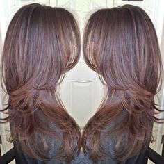 long hairstyle for fine hair (layers have to be fewer, longer and softer)