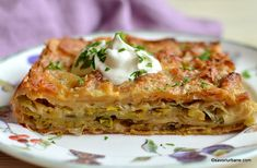 cea mai buna placinta cu praz si branza cu foi subtiri Mai, Mozzarella, Lasagna, Feta, Ethnic Recipes, Lasagne
