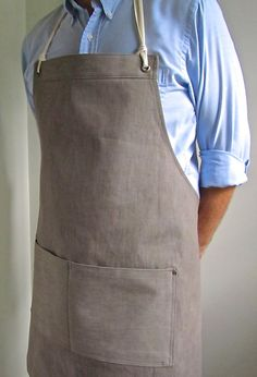 Full Denim Apron  Men  Italian Brown Denim  by attitudeandapron, $62.00