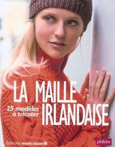 "Photo from album ""La Maille Irlandaise"" on Yandex. Knitting Needle Case, Knitting Books, Crochet Books, Knitting Stitches, Knit Crochet, Crochet Granny Square Beginner, Pull Angora, Crochet Lace Collar, Crochet Baby Sandals"