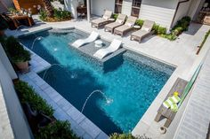 If you are fortunate enough to have a swimming pool in your backyard, you will want to maximize the design of that space with a cozy pool seating area. You may have a lot of space available near your pool… Continue Reading → Backyard Pool Landscaping, Backyard Pool Designs, Small Backyard Pools, Small Pools, Landscaping Ideas, Small Inground Pool, Backyard Ideas, Acreage Landscaping, Pergola Ideas