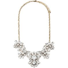 Forever 21 Rhinestone Flower Statement Necklace ($13) ❤ liked on Polyvore featuring jewelry, necklaces, collares, chain necklace, sparkly statement necklace, flower necklace, bib statement necklace and floral necklace
