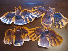 Going batty!  fun one for the wee ones.  Also try white paint foot prints as ghosts.
