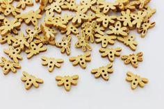 10 Dragonfly Sew Through Wooden Button by boysenberryaccessory