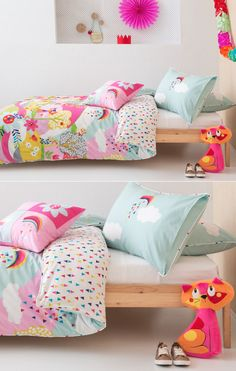 Cute kids bedding