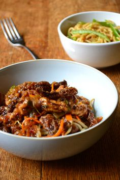 Chinese Crispy Beef with Noodles