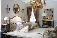 Impero bedroom, Rubelli fabrics