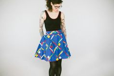 pleated cotton skirt with shaped waistband and by APEDesigns, $132.00