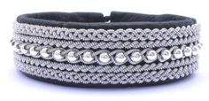 Black leather bracelet with Sterling Silver beads from AC Design