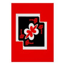Chinsese Abstract Red Poster