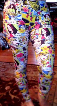 Comic Book Leggings | Zara Terez | Comics Leggings | Tween Girls Printed Leggings