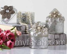 Brocante Traditional Vanity Box with Beaded Flower Brocante Vintage Antiqued Silver Vanity Box with Beaded Flower Accent Assorted 3 Designs: Small Flowers, Large Flower, Large Clear Flower. Wedding Gift List, Unique Wedding Favors, Wedding Party Favors, Unique Weddings, Wedding Souvenir, Silver Vanity, Vanity Box, Baby Favors, Vintage Vanity