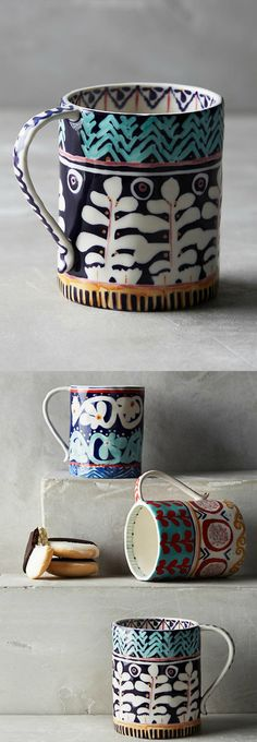 Isla Mugs from Anthropologie. Love the patterns.