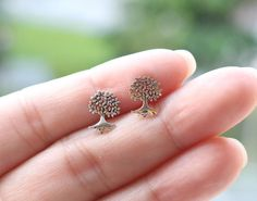 Sterling Silver Tree of Life stud Tree of Life by JCoJewellery
