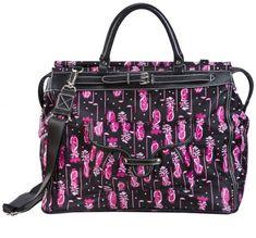 Fuchsia (Pink & Black) Sydney Love Ladies Golf Getaway Tote Bag at #lorisgolfshoppe
