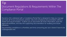 Document Regulations & Requirements Within The Compliance Portal