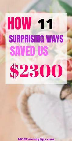 Saved $2,300 recently! Find out how we did it at MOREmoneytips.com #save #savingtips #moneysavingtips