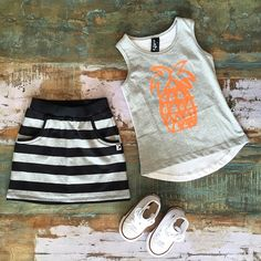 GIRLS • Minti street skirt, pineapple singlet and Converse Chuck Taylors •    All Minti kids clothing is now 25-50% OFF!  www.tinystyle.com.au