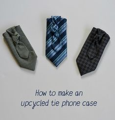 Upcycled phone holder tutorial... make your own phone case using an old tie ~ Vicky Myers Creations