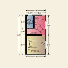 Small Apartment Plans, Small Apartment Layout, Studio Apartment Floor Plans, Studio Apartment Layout, Little House Plans, Small House Floor Plans, Smart Home Design, Small House Design, Narrow House