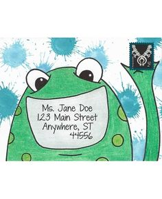 Friendly Frog Cling Mount Stamp - ICL3-102 Envelope Lettering, Envelope Art, Envelope Design, Hand Lettering, Pen Pal Letters, Letter Art, Letter Writing, Mail Art Envelopes, Addressing Envelopes