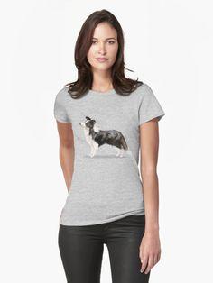 Border #Collie Womens T-Shirt