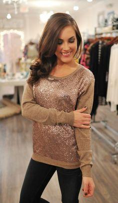 Dottie Couture Boutique -  Gold Sequin Top, $46.00 (http://www.dottiecouture.com/gold-sequin-top-1/)
