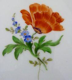 Meissen Teller, Neumarseille , Blumen Dekor, Durchmesser =15,5 cm, #1 | eBay